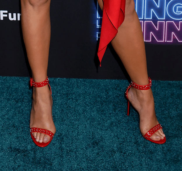 Chrissy Teigans Feet in Red Heels